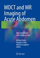 MDCT and MR Imaging of Acute Abdomen PDF