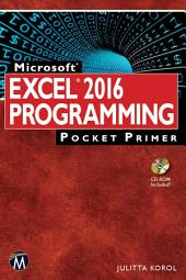 Microsoft Excel 2016 Programming Pocket Primer