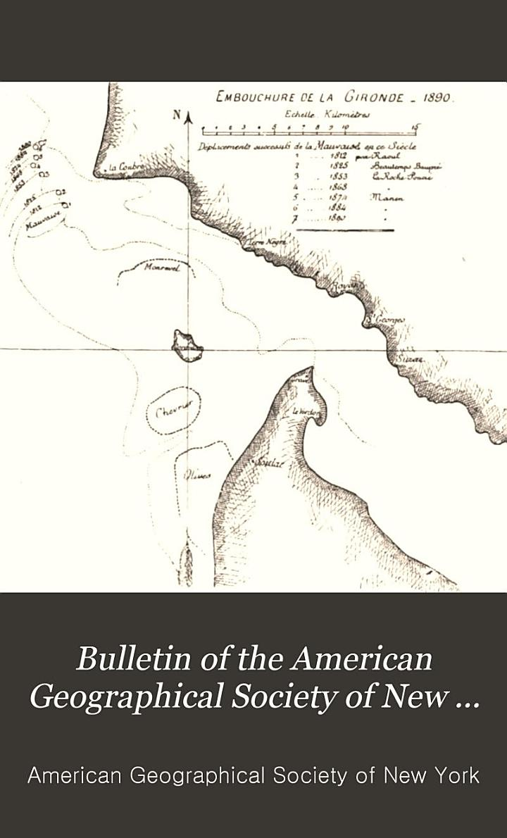 Bulletin of the American Geographical Society of New York