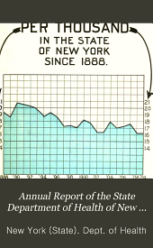 Annual Report of the State Department of Health of New York for the Year Ending December 31 ...: Volume 30, Part 1