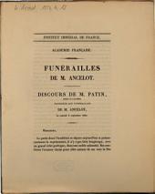 Funérailles de M. Ancelot. Discours de M. Patin ...: le samedi 9 septembre 1854