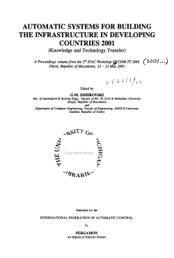 Automatic Systems for Building the Infrastucture in Developing Countries 2001  knowledge and Technology Transfer  PDF