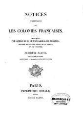 Notices statistiques sur les colonies françaises