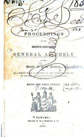 Votes and Proceedings of the ... General Assembly of the State of New Jersey: 1837-38, Volume 62