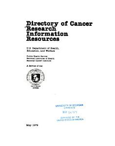 Directory of Cancer Research Information Resources PDF