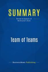 Summary Team Of Teams Book PDF