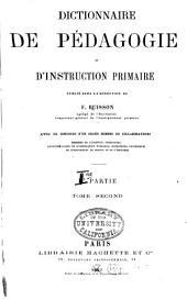 Dictionnaire de pédagogie et d'instruction primaire: Volume1,Numéro2