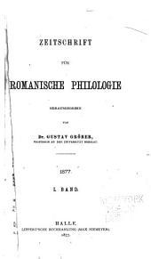 Zeitschrift für romanische Philologie: Volume1