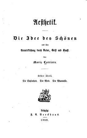 Theil  Die Sch  nheit   Die Welt   Die Phantasie PDF