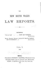 The New South Wales Law Reports, 1880-1900: Volume 5