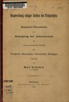 Besprechung einiger Stellen des Thukydides PDF