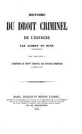 Histoire du droit criminel: Volume4