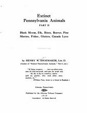 Extinct Pennsylvania Animals: Part 1