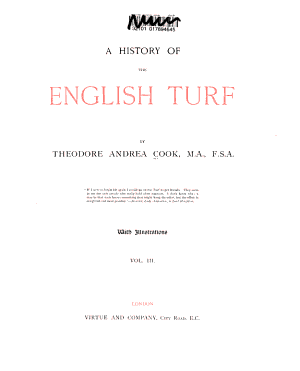 A History of the English Turf