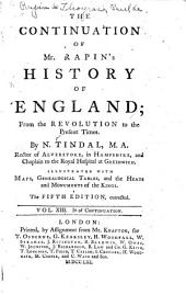 The History of England: Volume 13