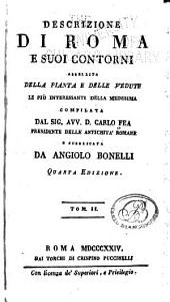Descrizione di Roma e suoi contorni: abbellita della pianta e delle vedute le più interessanti della medesima