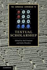 The Cambridge Companion to Textual Scholarship
