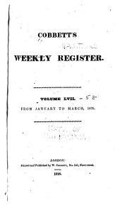 Cobbett's Political Register: Volumes 57-58