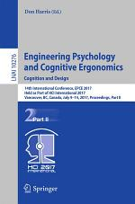 Engineering Psychology and Cognitive Ergonomics: Cognition and Design