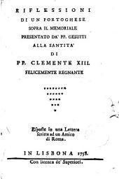 Riflessioni di un portoghese sopra il memoriale presentato da ́PP.Gesuiti alla Santità di PP.Clemente XIII