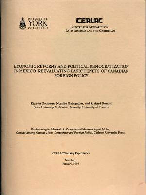 Economic Reforms and Political Democratization in Mexico PDF