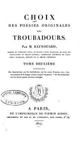 Choix des poésies originales des troubadours: Volume2