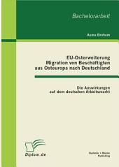 """EU-Osterweiterung: Migration von Besch""""ftigten aus Osteuropa nach Deutschland: Die Auswirkungen auf dem deutschen Arbeitsmarkt"""