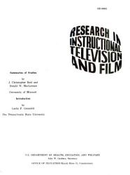 Research in Instructional Television and Film PDF