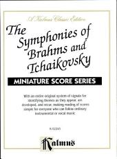 Symphonies of Brahms and Tchaikovsky: Full Orchestra (Miniature Score)