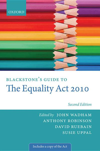 Blackstone's Guide to the Equality Act 2010 Pdf Book