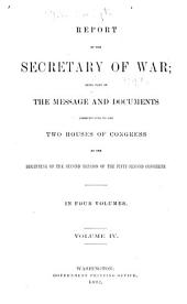 Annual Reports of the War Department: Volume 4