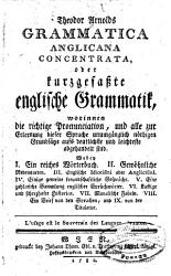 Grammatica Anglicana Concentrata  Oder Kurzgefa  te Englische Grammatik PDF