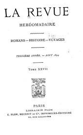 La Revue hebdomadaire: Volume3,Partie8