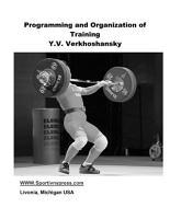 Programming and Organization of Training PDF