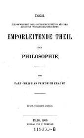 Intuitiv-analytischer Haupttheil: Volume 1