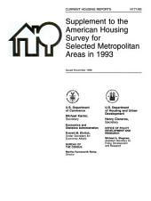 Current housing reports: Supplement to the American housing survey for selected metropolitan areas in ..., Volume 171
