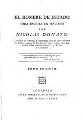 El hombre de estado: Traducida al francés..., y de éste al Castellano