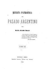 Revista patriótica del pasado argentino: Volumen 3