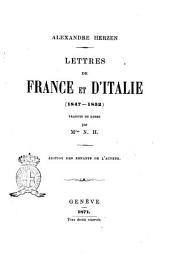 Lettres de France et d'Italie 1847-1852