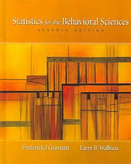Statistics for the Behavioral Sciences Book
