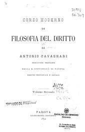 Corso moderno di filosofia del diritto: Volume 2