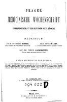 Prager medizinische Wochenschrift Prag  1876   1915 PDF