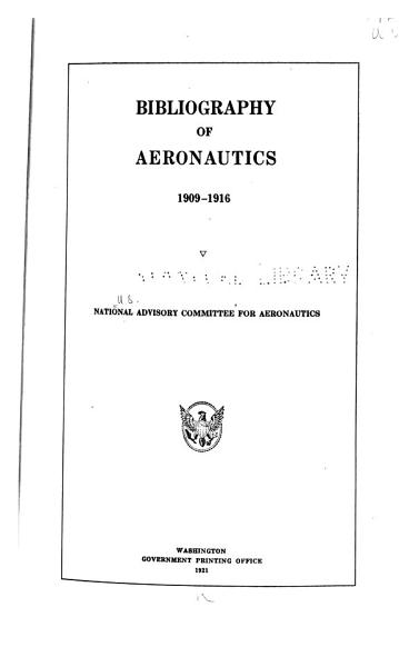 Download Bibliography of Aeronautics Book