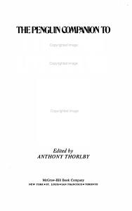 The Penguin Companion to European Literature PDF