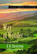 Way of Wonder PDF