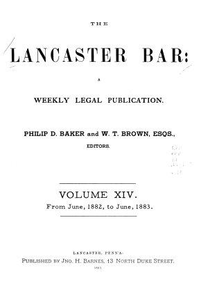 The Lancaster Bar PDF