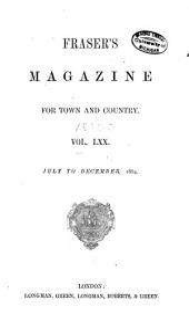 Fraser's Magazine: Volume 70