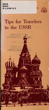 Tips for travelers to the USSR  PDF