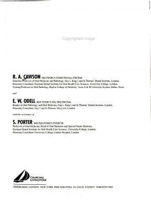 Cawson s Essentials of Oral Pathology and Oral Medicine PDF
