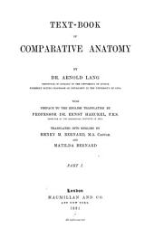 Text-book of Comparative Anatomy: Part 1